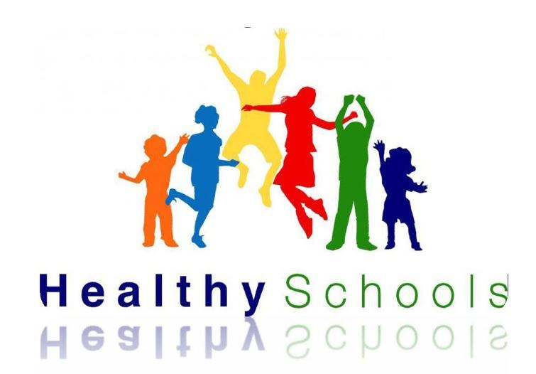 children jumping with words Healthy Schools